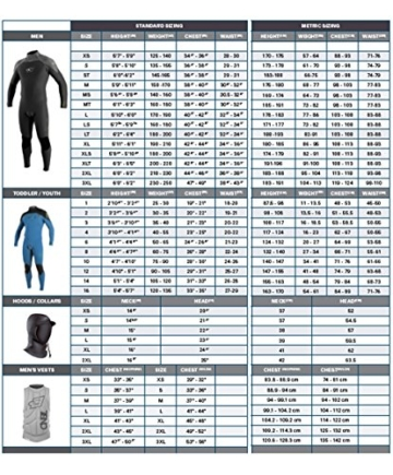 O'Neill Wetsuits Herren Neoprenanzug Epic 5/4 mm Full Wetsuit, Black, L, 4217-A05 - 3