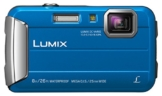 Panasonic LUMIX DMC-FT30EG-A Outdoor Kamera (16,1 Megapixel, 4x opt. Zoom, 2,6 Zoll LCD-Display, 220 MB interne Speicher, wasserdicht bis 8 m, USB) blau - 1
